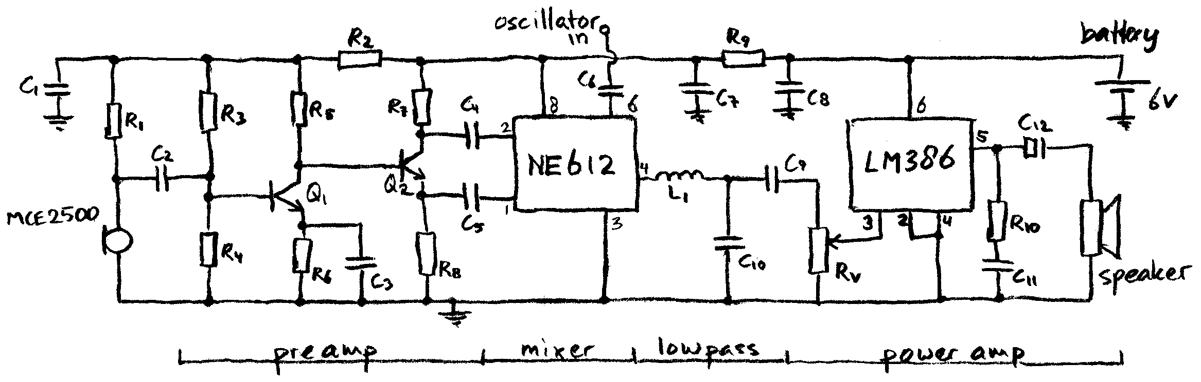 Ne612 Heterodyne Detector Simple Metal Circuit 555 Diagram